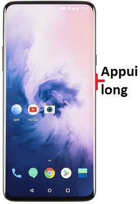 éteindre OnePlus 7T Pro