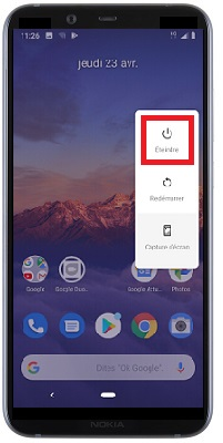 éteindre Nokia 8.1