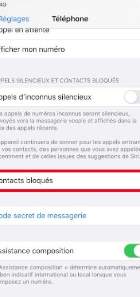bloquer numéro iPhone SE 2020