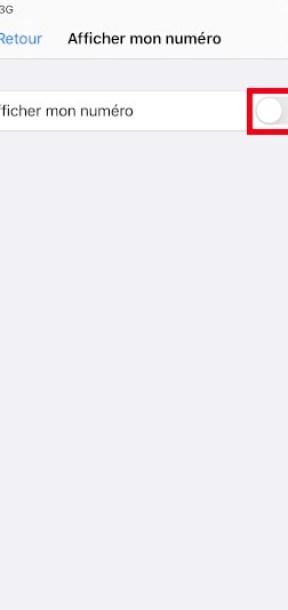 masquer numéro iPhone SE 2020