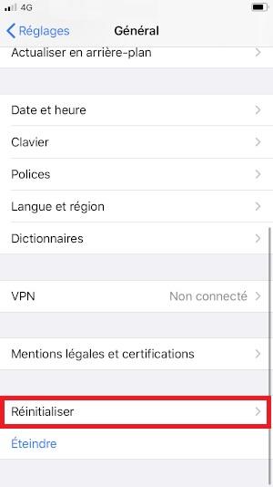 Échec réseau appel iPhone SE 2020