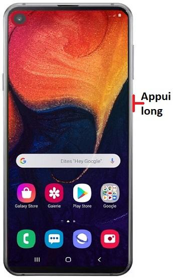 éteindre Samsung A60