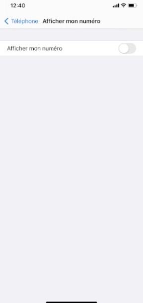 masquer numéro iPhone 12 Pro