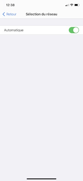 Réseaux iPhone 12 Pro