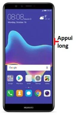 éteindre Huawei Y9 2018