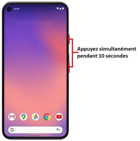 éteindre Google Pixel 5