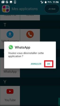 supprimer application Doro 8035