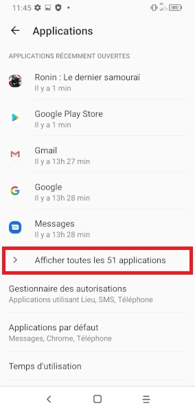 application Alcatel 1S 2020
