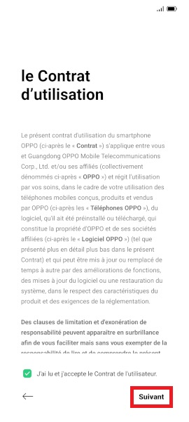 Activation oppo android 11