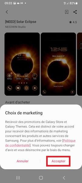 changer thème Samsung A01