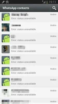WhatsApp hit by 'Error: Status Unavailable' bug