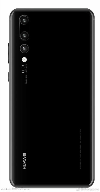 Huawei P20 Plus ser ut att få tre kameror på baksidan