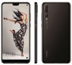 Pressbilder på Huawei P20 Lite, P20 och P20 Pro läckta – samtliga har läpp
