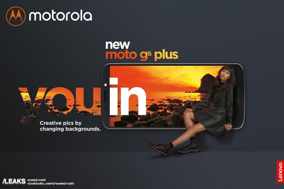 Officiella bilder på Moto G6 Play och G6 Plus läckt