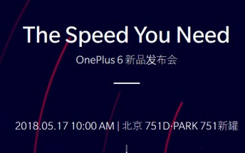Bekräftat: OnePlus 6 presenteras 16 maj