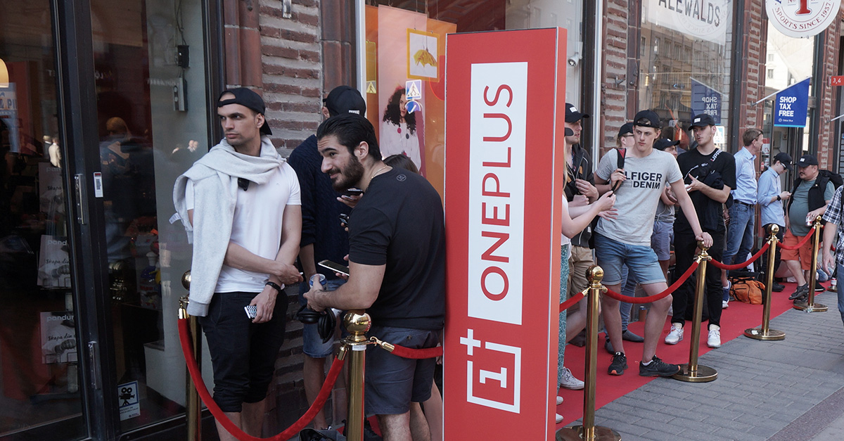 OnePlus arrangerade populärt pop-up event under gårdagen