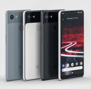 Är det här en officiell bild på Google Pixel 3 XL?