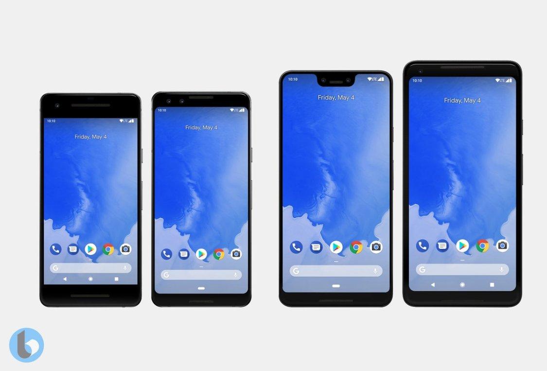 Nya konceptbilder visar Pixel 3 & Pixel 3 XL mot sina föregångare