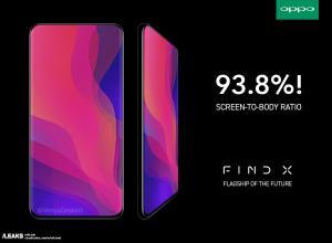 OPPO Find X kommer få 93,3% skärmyta