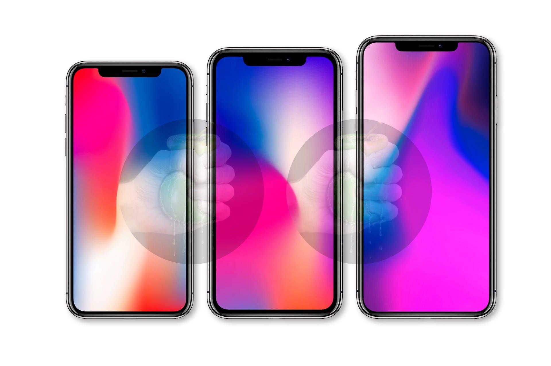Gamla iPhone X till vänster
