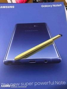 Ny officiell bild på Samsung Galaxy Note 9