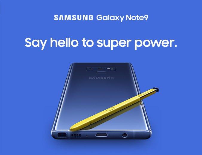 Lådan till Samsung Galaxy Note 9