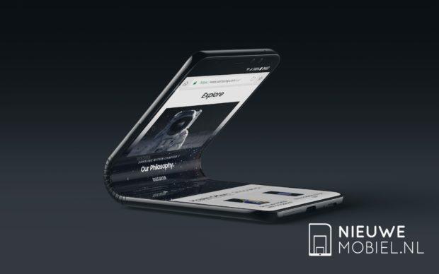 Konceptbilder på den böjbara mobilen Samsung Galaxy F1