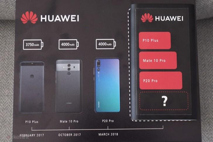 Huawei skickar ut teaser för Mate 20 Pro, kommer få större batterier än sina föregångare