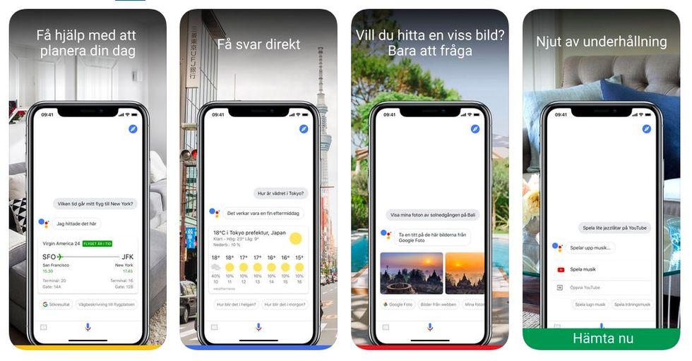 Google Assistent nu till iOS