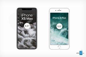 Så stor är iPhone XS Max mot föregångaren 8 Plus