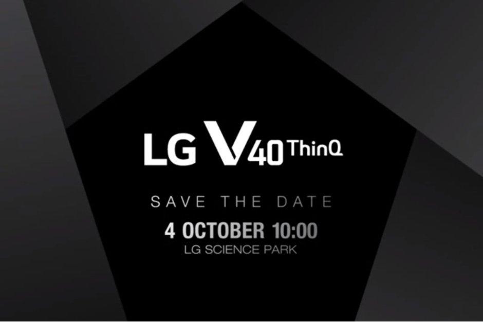 LG V40 ThinQ presenteras 4 oktober – har tre bakre kameror