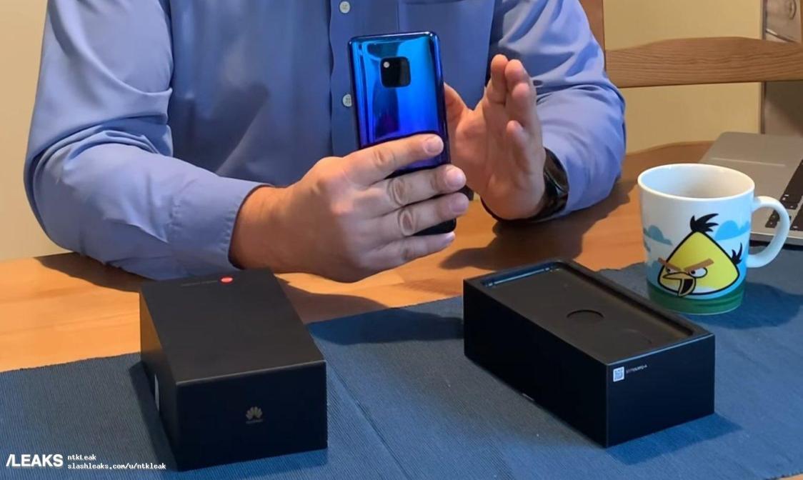 Video visar att Huawei Mate 20 Pro fått fingeravtrycksläsaren inbyggd i displayen