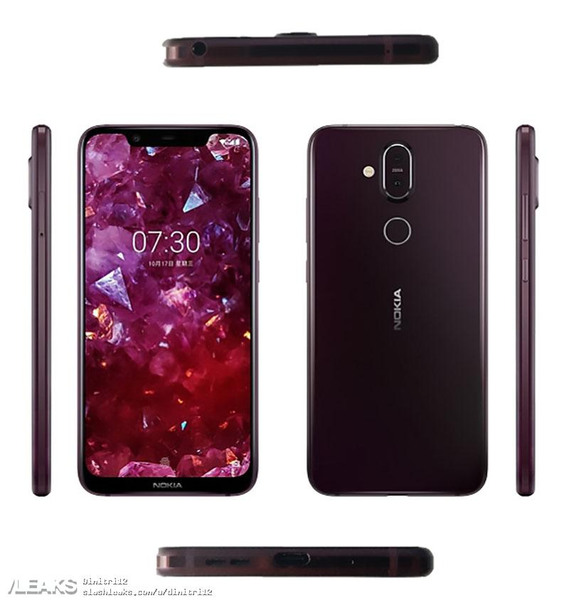Pressbild och specifikationer på Nokia 7.1 Plus
