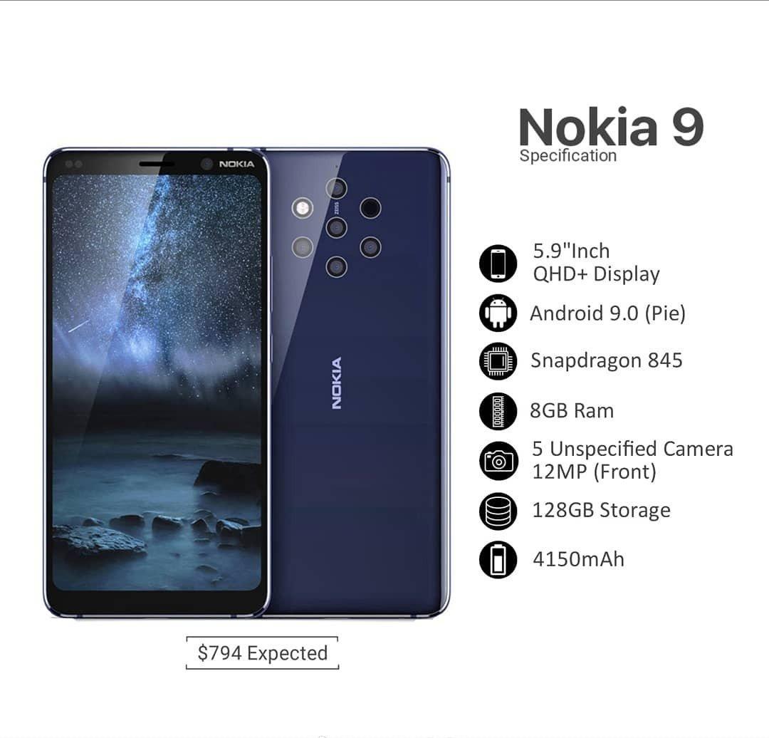 Ny bild samanfattar specifikationerna för Nokia 9 – kan presenteras i december!