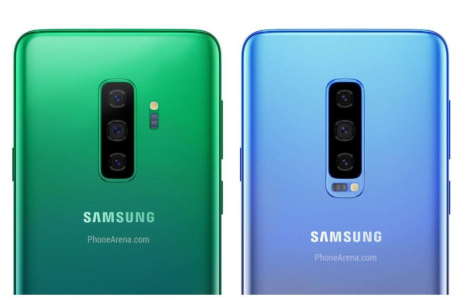 Så här kan den gröna och blåa Galaxy S10 se ut!