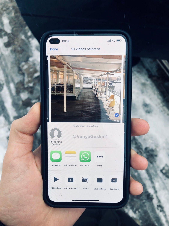 Så här kan iPhone XS2 komma att se ut med ett kamerahål i skärmen!