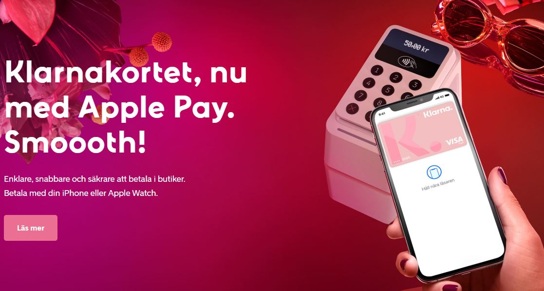 Apple Pay nu till Klarna