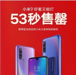Xiaomi Mi 9 sålde slut – på 53 sekunder
