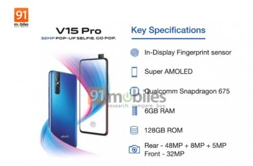 Vivo V15 Pro ser ut att få Qualcomm Snapdragon 675