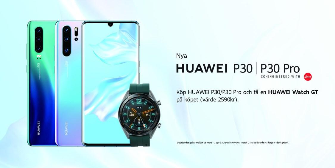 Huawei P30 och P30 Pro finns redan nu i lager – kostar 6990 respektive 8990 kronor