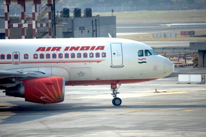 Air India nödlandande med Airbus A319