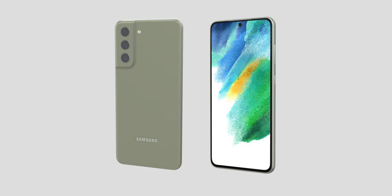 Samsung Galaxy S21 FE visar sig i grönt
