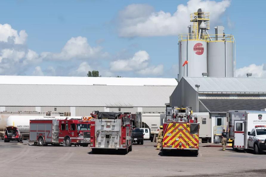 Incendie dans une usine de Trois-Rivières