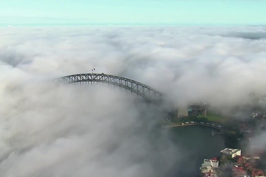 Sydney sous un épais brouillard