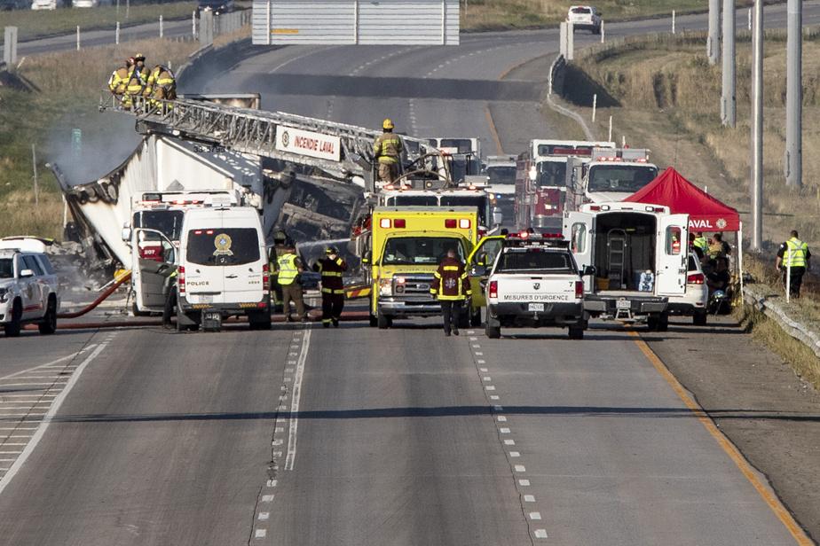 Carambolage mortel sur l'autoroute440: un camionneur arrêté