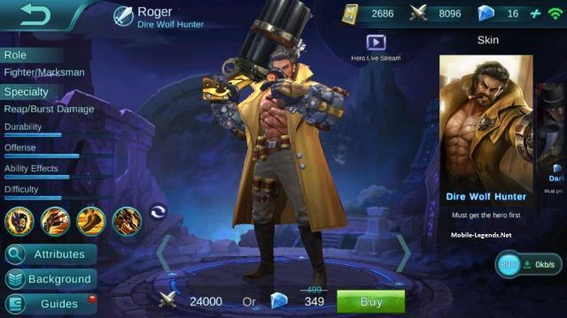 Roger High Damage Build 2019 Mobile Legends