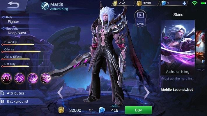 Martis Features 2019 Mobile Legends