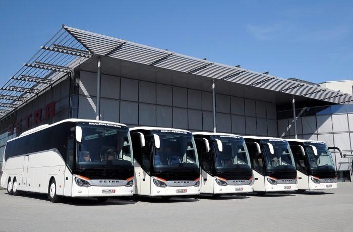 Euroguide erhöht um fünf Setra Busse