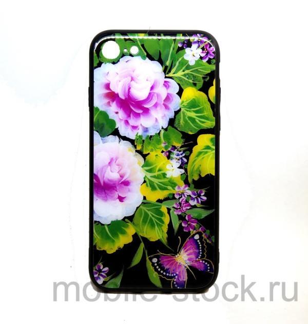 Чехол с яркими цветами для iPhone 7 и iPhone 8