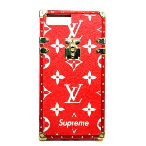 Чехол LV Supreme красный для iPhone 7 Plus | 8 Plus
